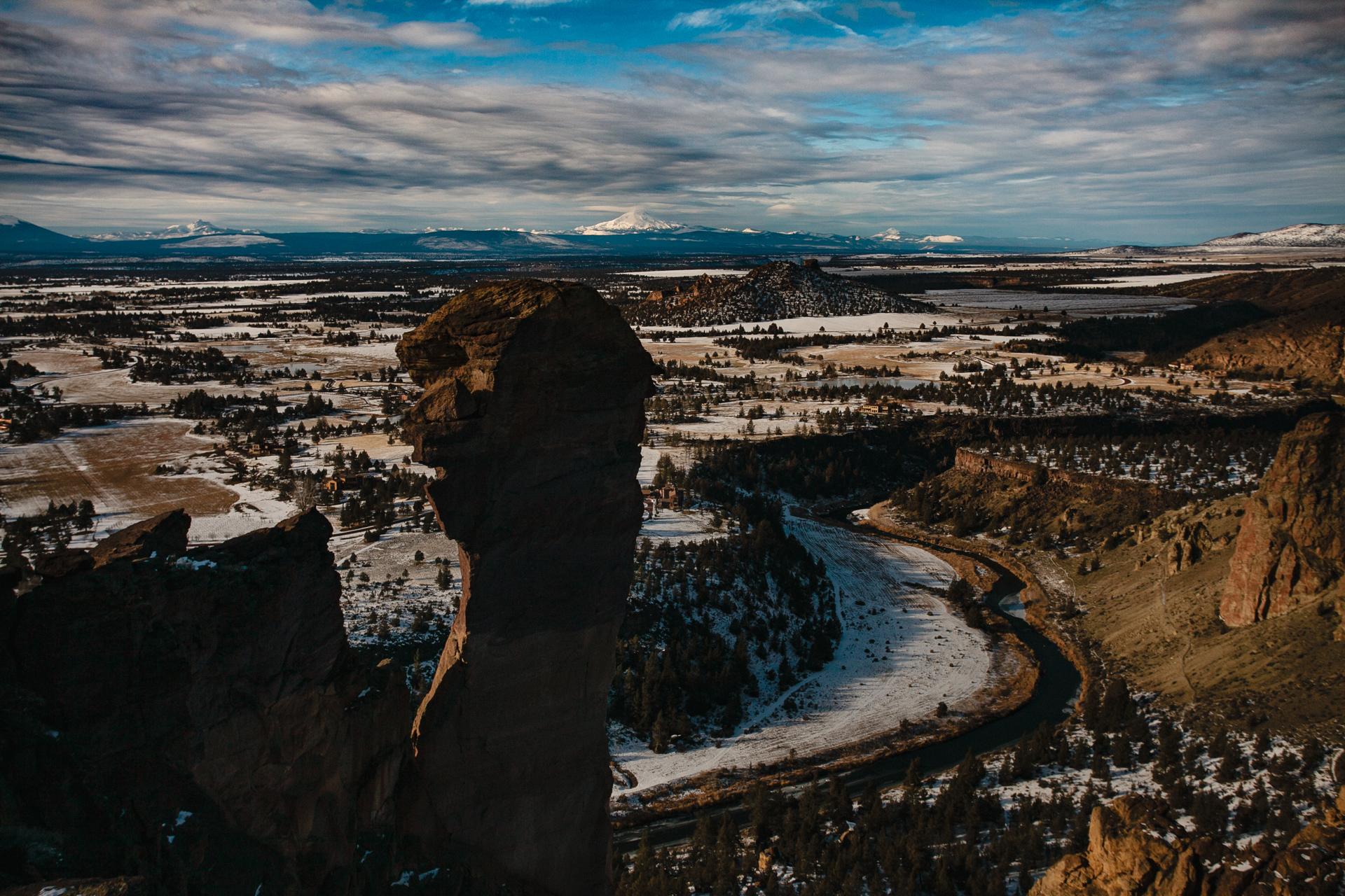 Foreground: Monkey Face rock column. Background: Mt Washington.